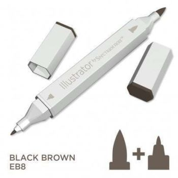 Spectrum noir Illustrator pen EB8 - Black Brown