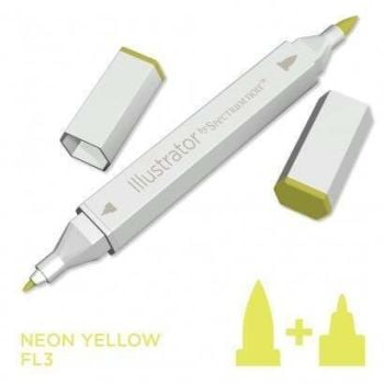 Spectrum noir Illustrator pen FL3 - Neon Yellow