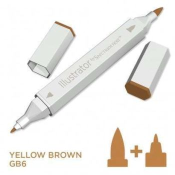 Spectrum noir Illustrator pen GB6 - Yellow Brown