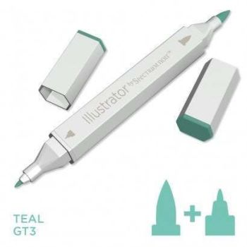 Spectrum noir Illustrator pen GT3 - Teal
