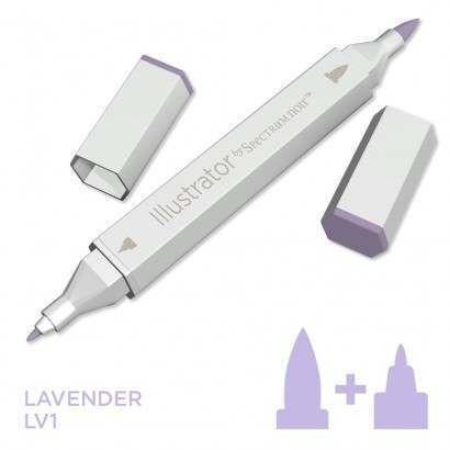 Spectrum noir Illustrator pen LV1 - Lavender