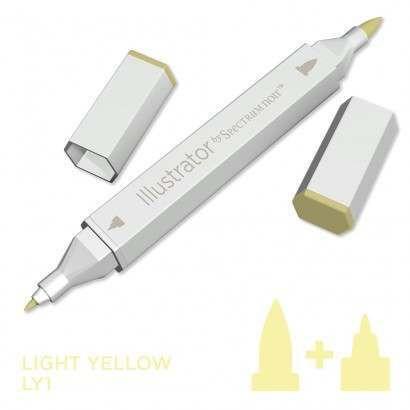 Spectrum noir Illustrator pen LY1 - Light Yellow