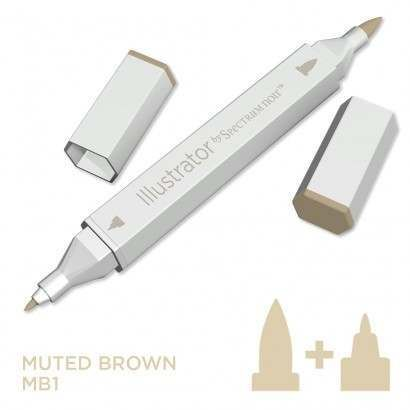 Spectrum noir Illustrator pen MB1 - Muted Brown