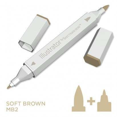 Spectrum noir Illustrator pen MB2 - Soft Brown