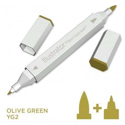Spectrum noir Illustrator pen YG2 - Olive Green