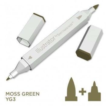 Spectrum noir Illustrator pen YG3 - Moss Green