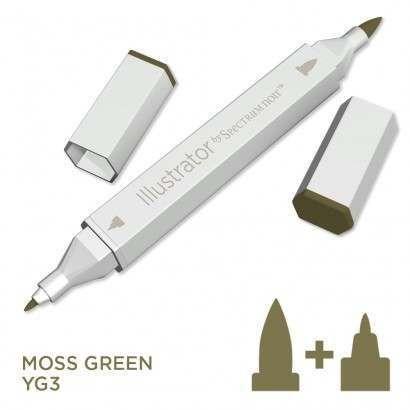Spectrum noir Illustrator pen YG3 - Moss Green