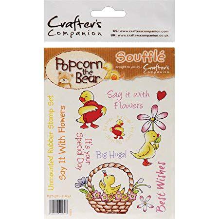 Popcorn the bear, Kids, A6 rubber stamp set - Celebrate