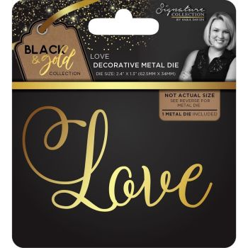 Sara Signature Black and Gold Collection Metal Die - Love