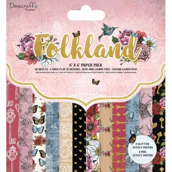 Dovecraft Folkland 6x6 Paper Pad