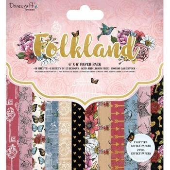 Dovecraft Folkland 6x6 Paper Pad