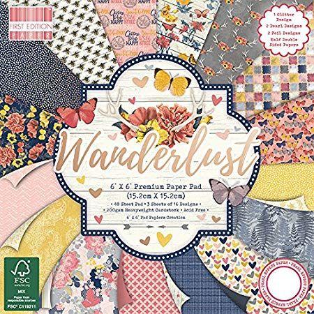 First Edition 6x6 FSC Paper Pad Wanderlust