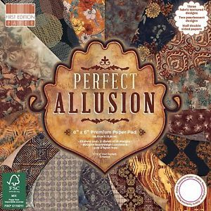 First Edition 6x6 FSC Paper Pad Perfect Allusion