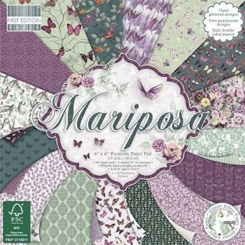 First Edition 6x6 FSC Paper Pad Mariposa