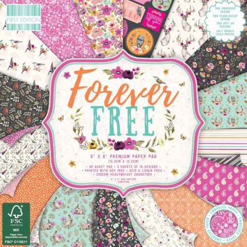 First Edition 6x6 FSC Paper Pad Forever Free