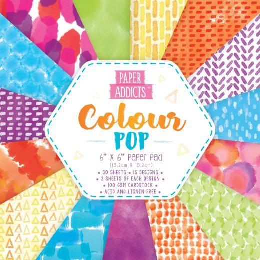 Paper Addicts Colour Pop 6x6 Paper Pad