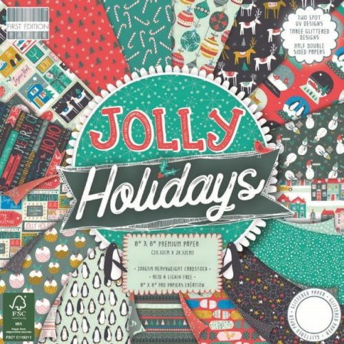 First Edition 6x6 FSC Paper Pad Jolly Holidays