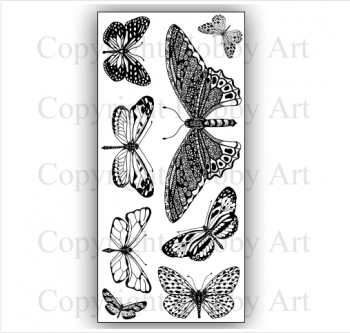 Janie's Collection - Butterflies clear stamp set