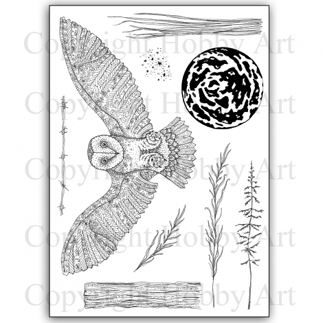 Janie's Collection – Orla Owl A5 stamp set