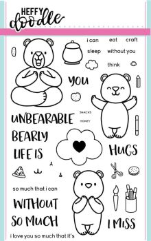 Heffy Doodle - Unbearable without you clear stamps
