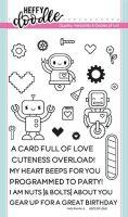 Heffy Doodle - Bots of love stamps