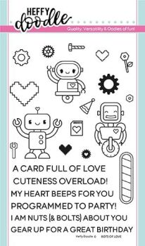 **NEW** Heffy Doodle - Bots of love stamps