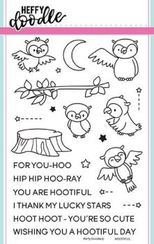 Heffy Doodle - Hootiful clear stamps