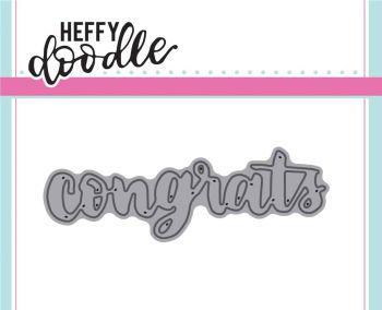 Heffy Doodle congrats word die