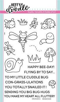 Heffy Doodle - Big bug hugs clear stamps
