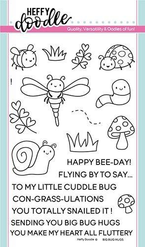 **NEW**Heffy Doodle - Big bug hugs clear stamps