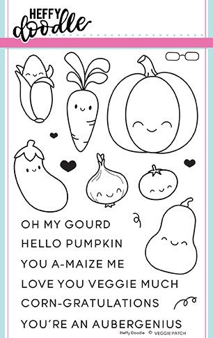 Heffy Doodle - Veggie patch clear stamps