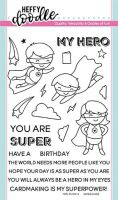 Heffy Doodle - Super Dudes clear stamps