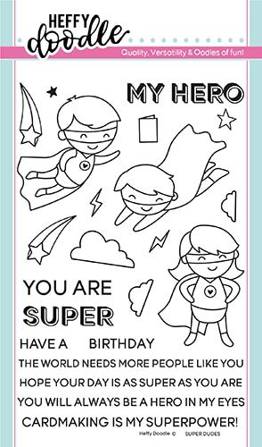 **NEW** Heffy Doodle - Super Dudes clear stamps