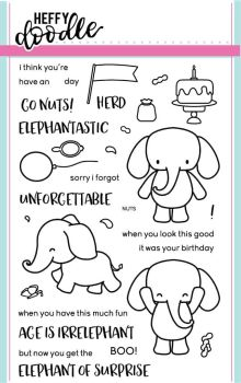 Heffy Doodle - Elephant of surprise clear stamps