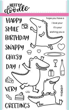 Heffy Doodle - Happy Snappy Crocs clear stamps