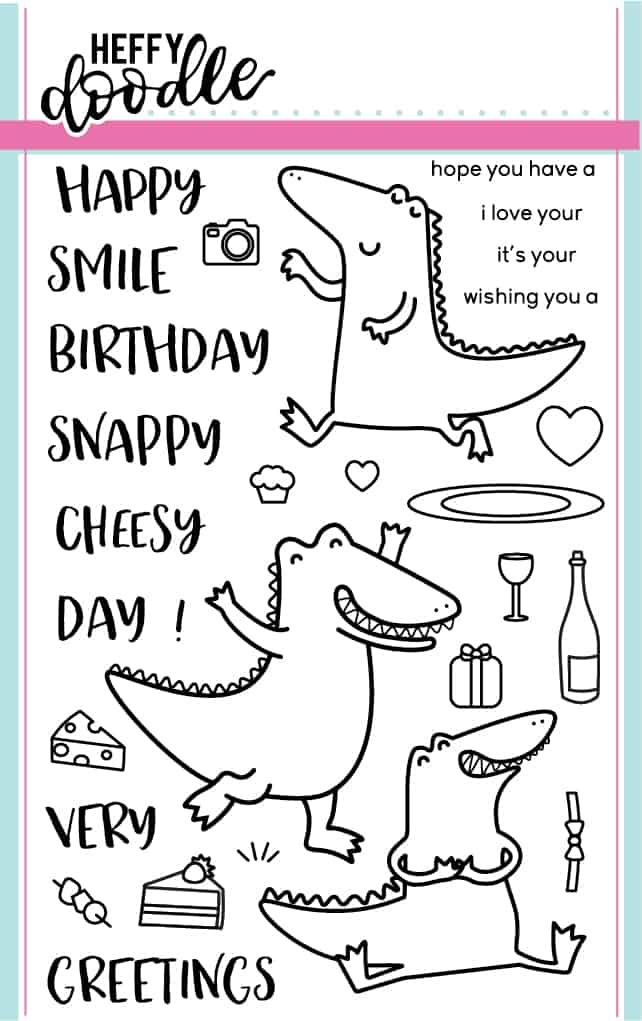 Heffy Doodle - Snappy Crocs clear stamps