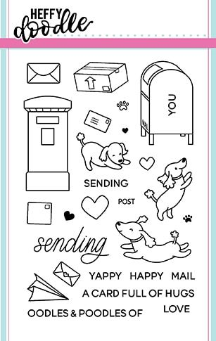 Heffy Doodle - Yappy Happy Mail clear stamps