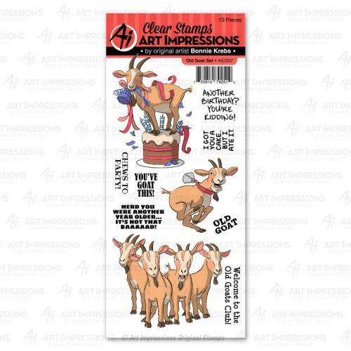Art Impressions - Old goat - clear stamp set