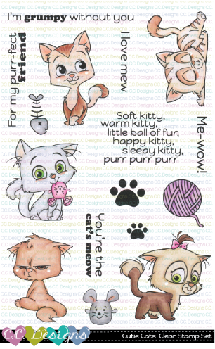 Cutie Cats Clear Stamps