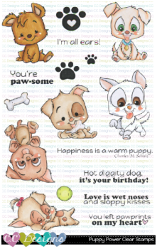 Puppy Power Clear Stamps
