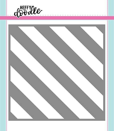 Heffy Doodle Barber Shop (Thick Diagonal Stripes) stencil