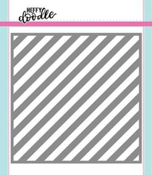 Heffy Doodle Candy Store (Thin Diagonal Stripes) stencil