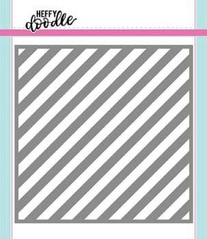Heffy Doodle - Candy Store (Thin Diagonal Stripes) stencil