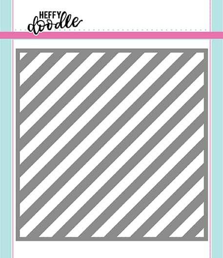 Heffy Doodle Candy Store (Thin Diagonal Stripes) stencil