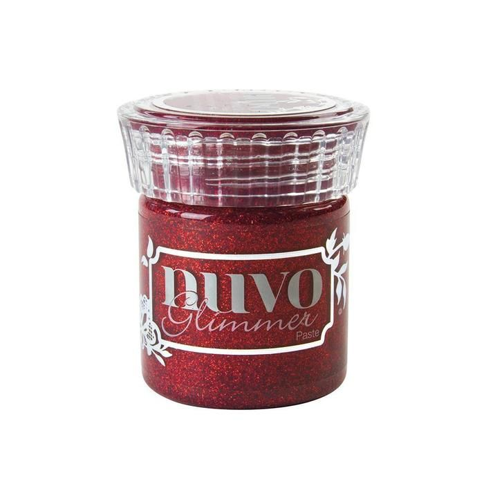 Nuvo - Glimmer Paste - Garnet Red