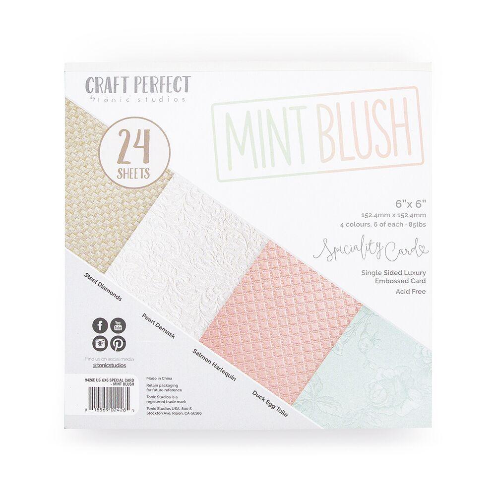 Craft Perfect - 6x6 Card Packs - Mint Blush
