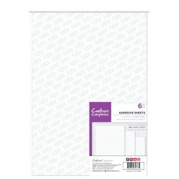 Crafter's Companion Double Sided Adhesive Sheets - A4 Size (6PC
