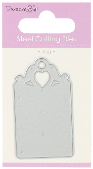 Dove craft - Heart tag die