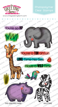 Wild time clear stamp set - The Greeting Farm