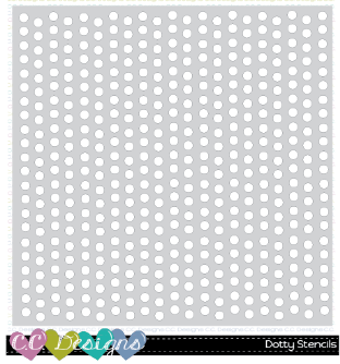 "C.C. Designs - 6"" x 6"" Dotty stencil"